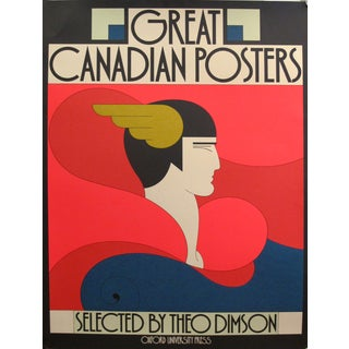 """Theo Dimson 1979 Original """"Great Canadian Posters"""" Book Cover Poster For Sale"""