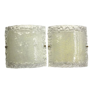 Italian Modern Glass Sconces - a Pair For Sale