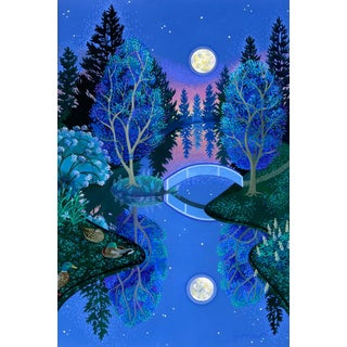 """""""The Dreaming"""" Contemporary Landscape Giclee Reproduction by Wynn Yarrow For Sale"""