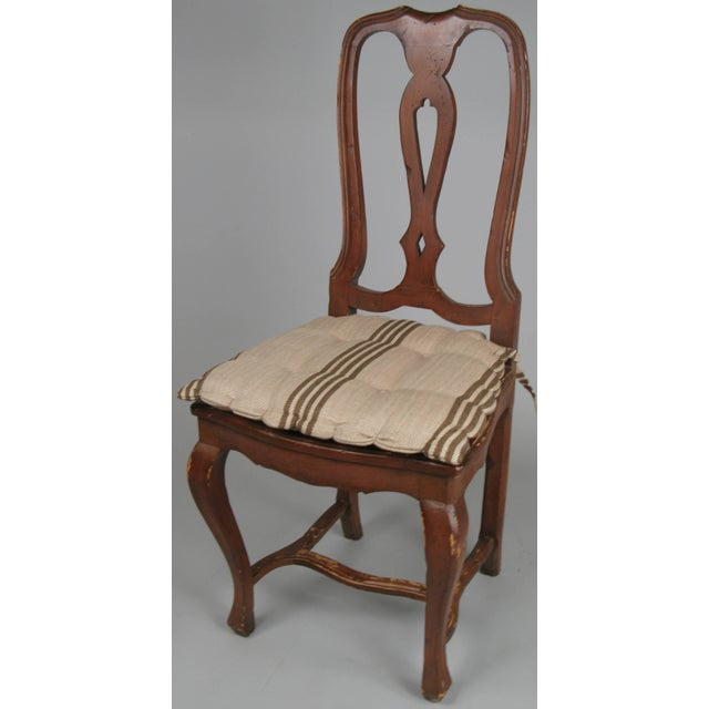 1970s Swedish Style Dining Chairs With Quilted Covers - Set of 8 For Sale - Image 4 of 8