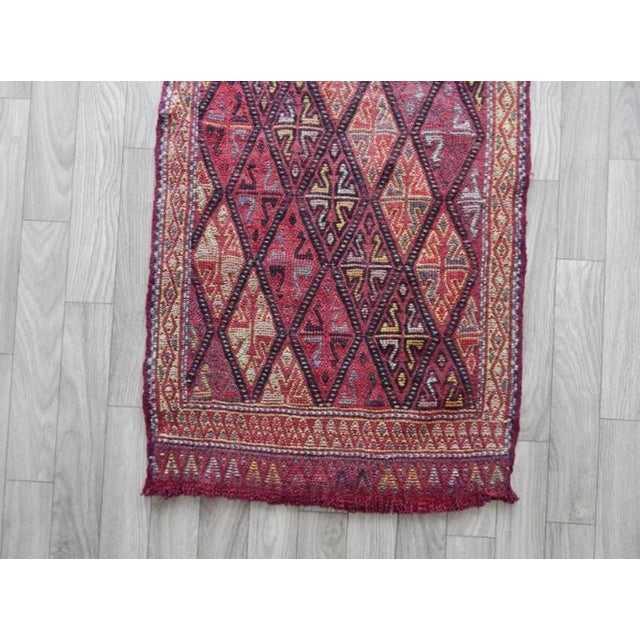 Masterwork Hand-Woven Rug Braided Small Kilim 1′6″ × 2′12″ For Sale In Dallas - Image 6 of 8