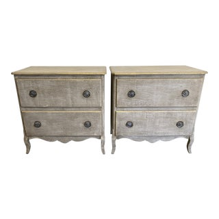 Painted Wood 2 Drawer Chests - a Pair For Sale