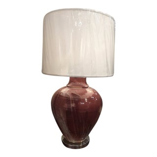 Mid-Century Double Glazed Large Table Lamp For Sale