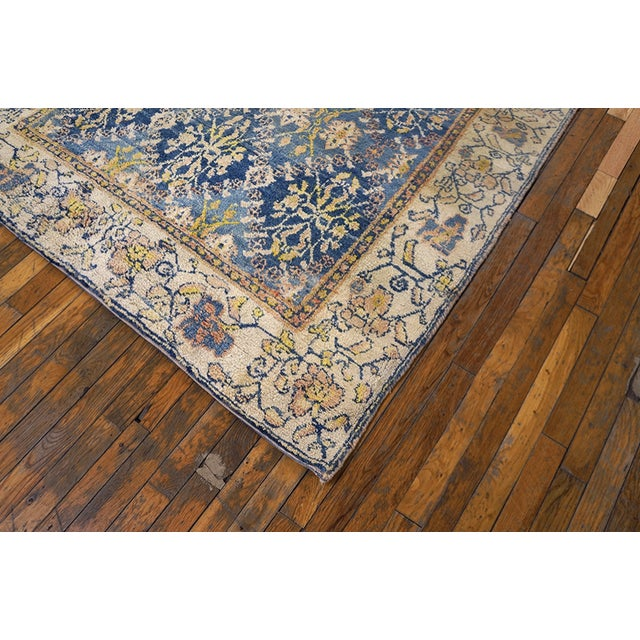 Antique Indian Agra Cotton Rug For Sale - Image 4 of 7