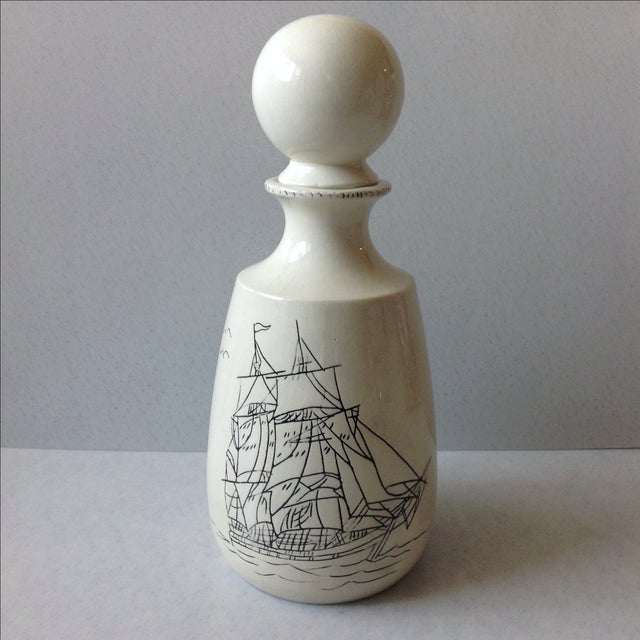 Hand-Crafted Nautical Pottery Decanter - Image 2 of 9