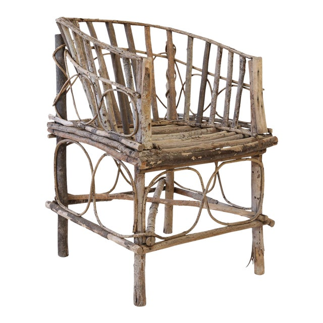 Antique French Twig Chair For Sale