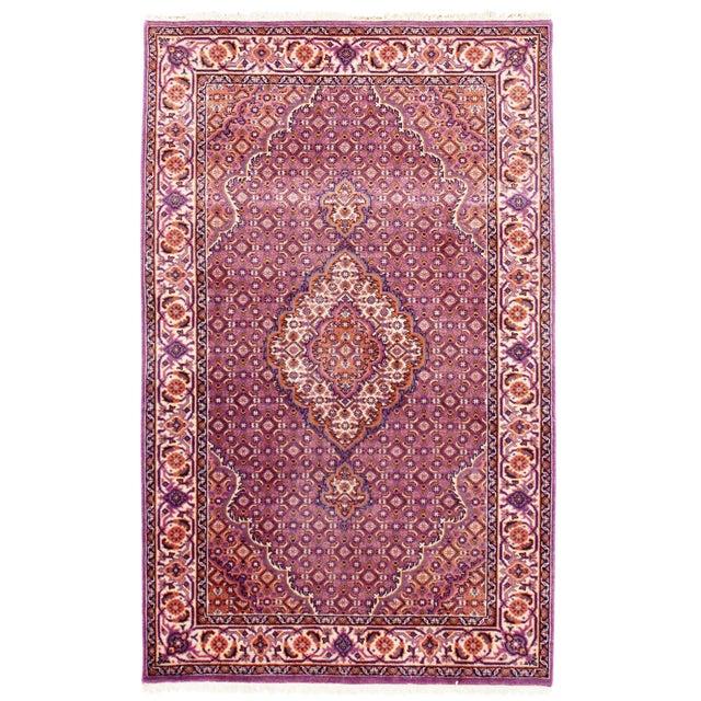 """Traditional Pasargad N Y Fine Tabriz Mahi Design Silk & Wool Rug - 3' X 4'10"""" For Sale"""