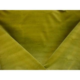 Kravet Couture Versailles Chartreuse Green Velvet Upholstery Fabric - 2 7/8 For Sale