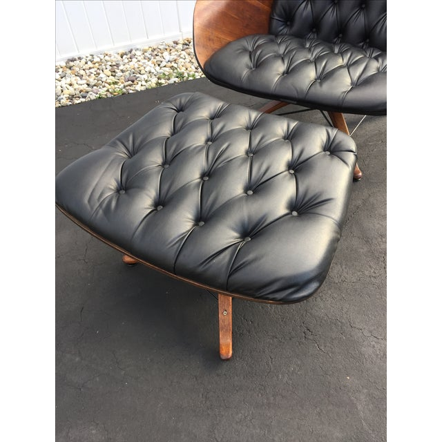 George Mulhauser for Plycraft Luxe Lounge Chair and Ottoman - Image 5 of 9