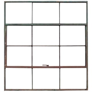 Early 21st Century Vintage Factory Casement Metal Window Frame For Sale