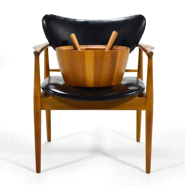 Oversize Staved Teak Bowl & Servers by Richard Nissen For Sale - Image 10 of 12