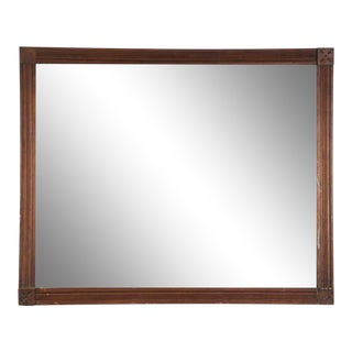 1940's Arts and Crafts Style Oak Wall Mirror For Sale