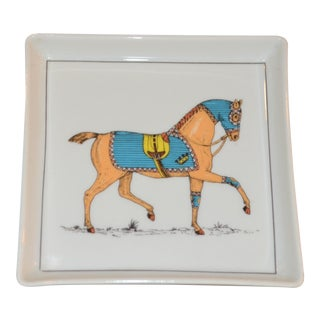 Tiffany & Co. Jacques Lobjoy French Equestrian Porcelain Trinket Tray For Sale