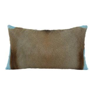 Springbok Pillow in Blue Tiffany For Sale
