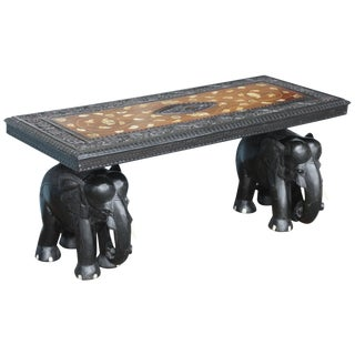 Anglo-Indian Elephant Motif Cocktail Table