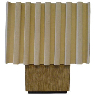 Paul Marra Modern Distressed Oak Table Lamp For Sale
