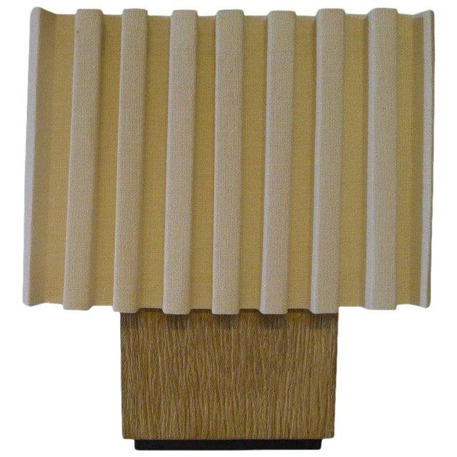 Paul Marra Modern Distressed Oak Table Lamp For Sale