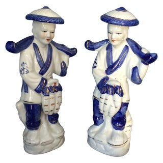 Chinese Peasant Figurines - A Pair For Sale