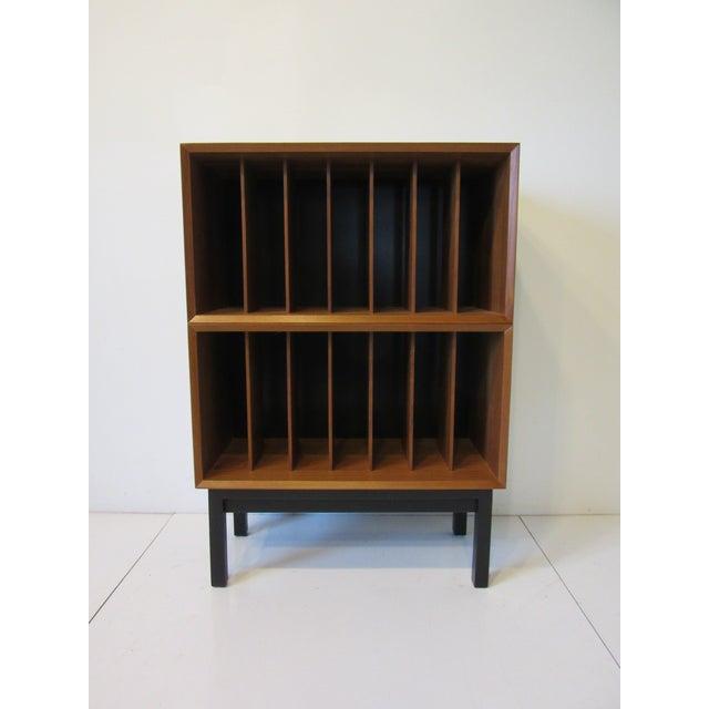 Danish Cado Teak Record Cabinet For Sale - Image 9 of 10