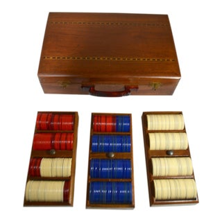 Vintage Boxed Poker Chip Set