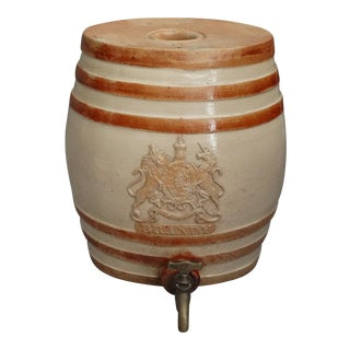 19th-Century Antique Doulton Lambeth Brandy Cask Barrel For Sale