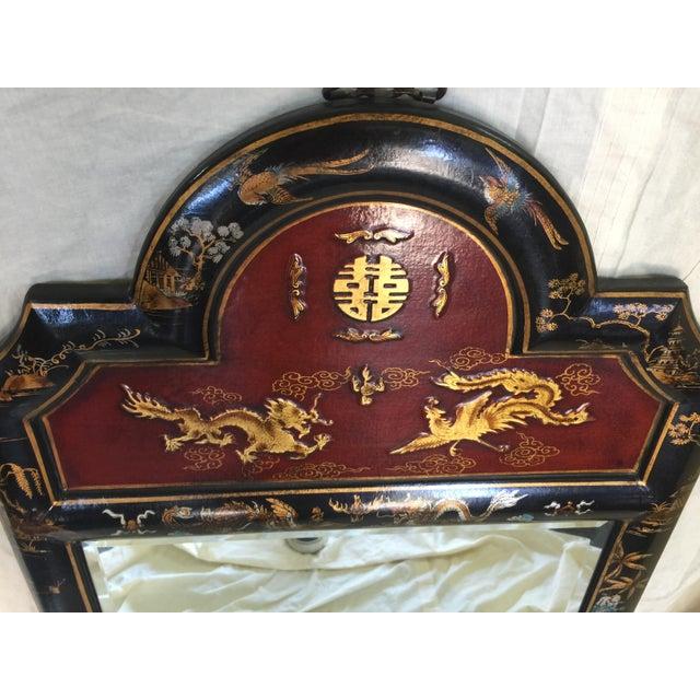 Chinese Chinoiserie Mirror - Image 3 of 6