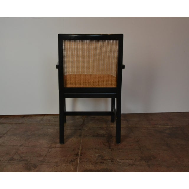 1970s Pair of Black Frame Armchairs For Sale - Image 5 of 6