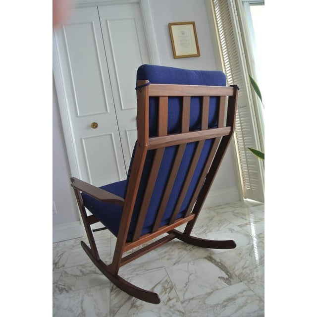 Frem Rojle Rocking Chair by Poul Volther For Sale - Image 4 of 9