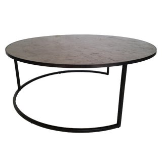Hickory White for Lillian August Modern Collection Circular Cocktail Table For Sale