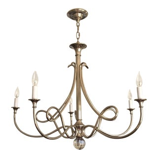 Double Twist Large Chandelier For Sale