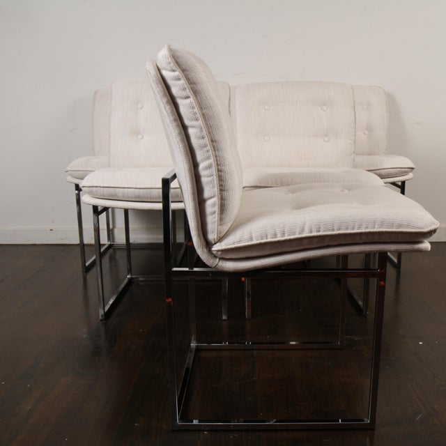 Milo Baughman for Thayer Coggin Chrome Dining Chairs For Sale - Image 9 of 10