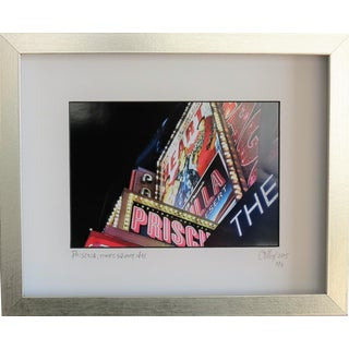 Priscilla Times Square Marquee. Framed Photography by C. Damien Fox For Sale