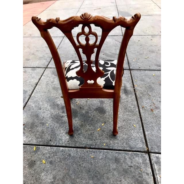 Chippendale Claw Foot and Ball Dining Chairs - Set of 8 For Sale - Image 5 of 9