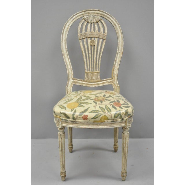 Louis XVI 20th Century Louis XVI French Style Hot Air Balloon Back Dining Chairs - Set of 6 For Sale - Image 3 of 13