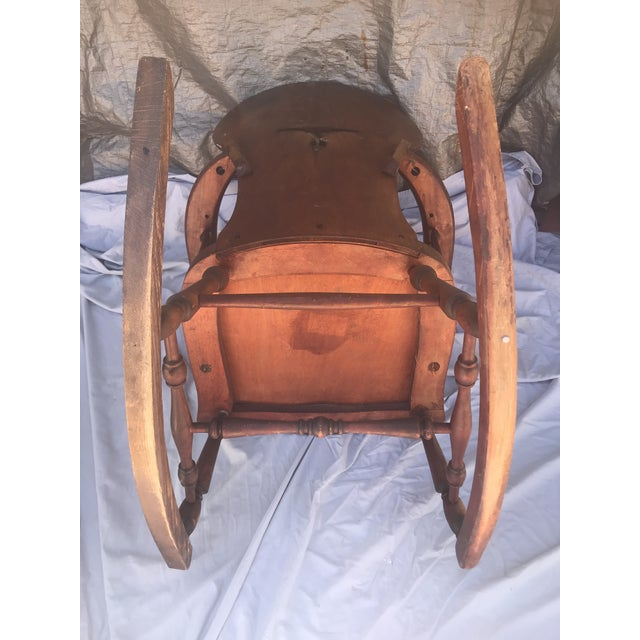 1900s Vintage Victorian Rocking Chair For Sale - Image 4 of 7