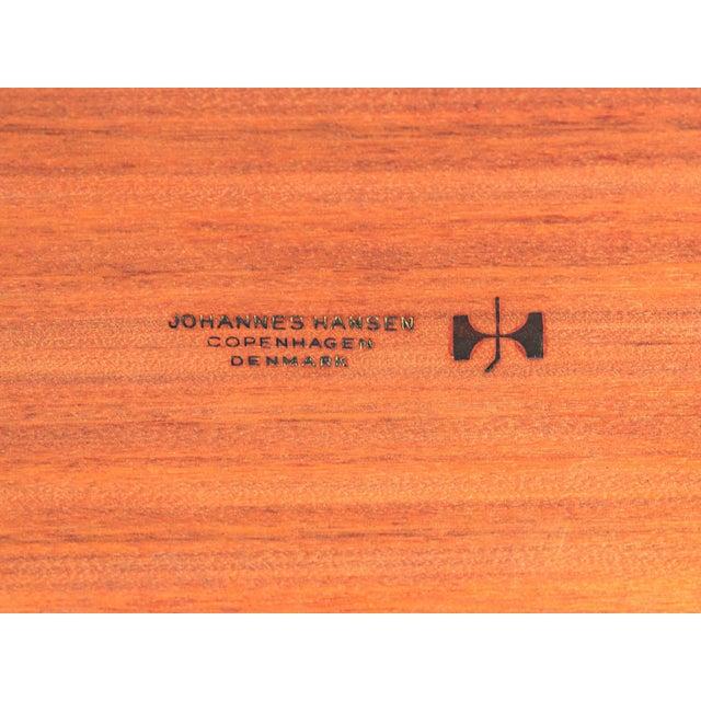Hans J. Wegner JH570 Exapandable Teak Dining Table for Johannes Hansen For Sale - Image 11 of 11