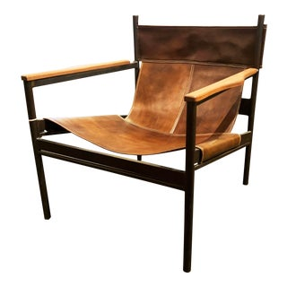 Vachetta Coffee Leather Barcelona Chair by Cisco Brothers For Sale
