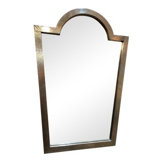 Mirror in Painted Silver Frame For Sale