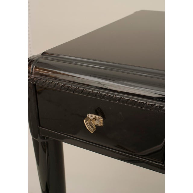 French Art Deco Ebonized Desk For Sale - Image 4 of 7