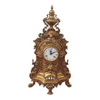 Ornate Gold Gilt Mantel Clock (Not Working)