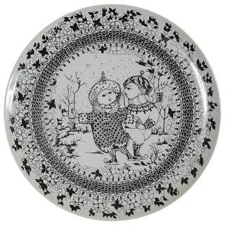 Large Rosenthal Porcelain Plate by Bjørn Wiinblad, The Seasons Series 'Winter'
