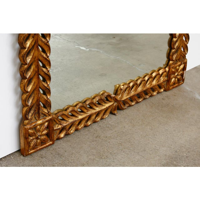 Late 20th Century Gilt Carved Mirror by Harrison and Gil For Sale - Image 5 of 13