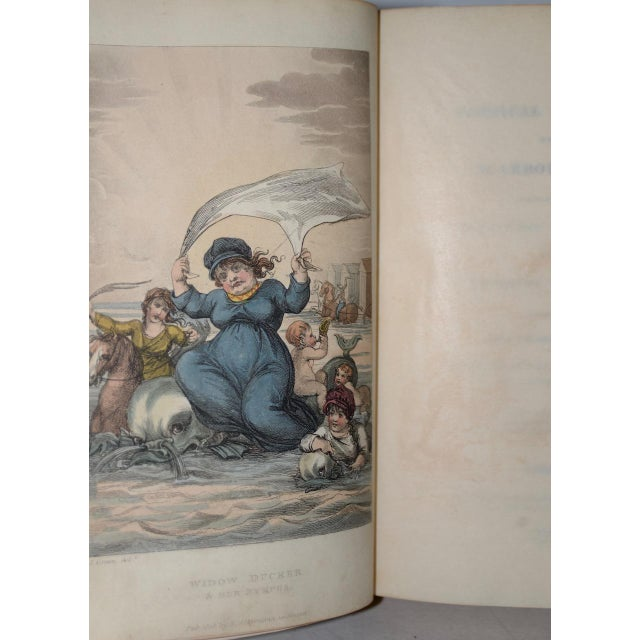 Early 19th Century Leather-Bound Books With Engravings by Rowlandson - a Pair For Sale - Image 9 of 13