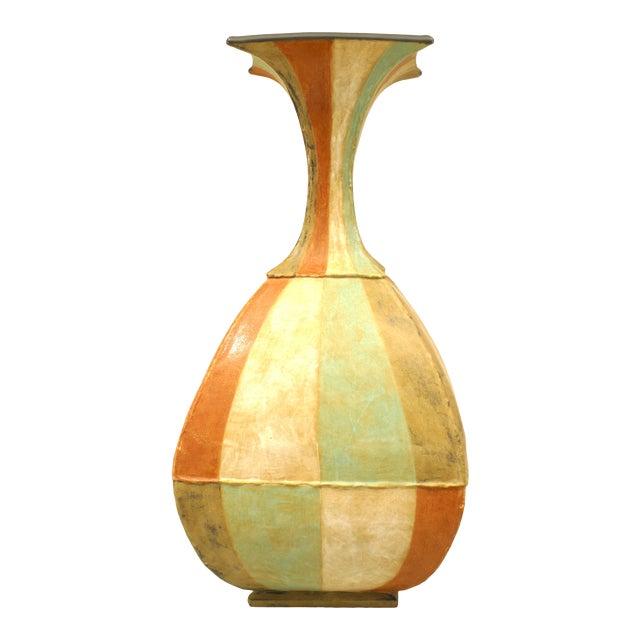 American Post-War DI Pasquale Roman Stripe Vase For Sale