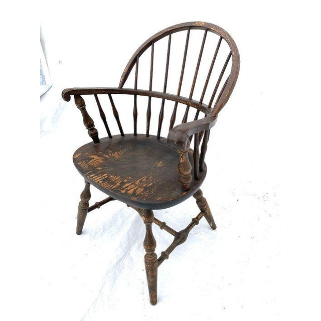 Vintage Nichols and Stone Rockport Windsor Rustic Farm House Style Chair For Sale In New York - Image 6 of 8