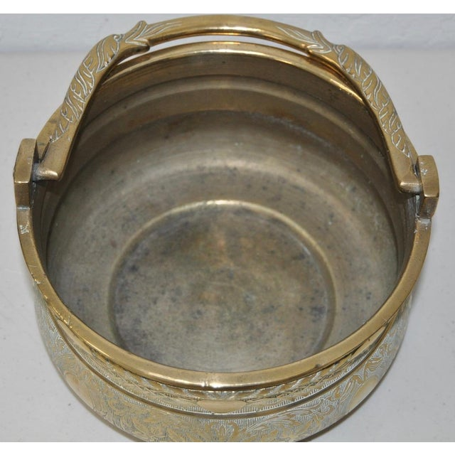 19th-Century Brass Pot with Dolphin Handle - Image 5 of 5