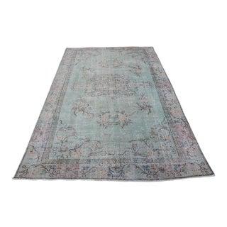 "Vintage Handmade Turkish Anatolian Faded Rug-5'2x8'6"" For Sale"