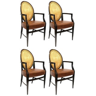Mid Century Modern Armchairs- Set of 4 - in the Style of Harvey Probber For Sale