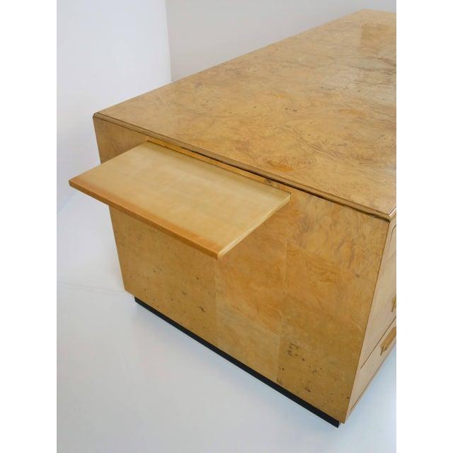 Wood Henredon Scene Two Executive Desk in Burl Wood For Sale - Image 7 of 12