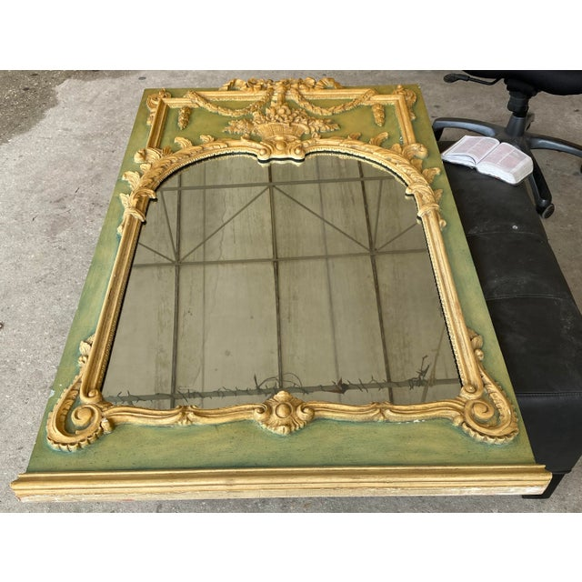 Green Maslow Freen New York Design Marble Top Dresser & Mirror For Sale - Image 8 of 13